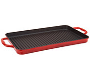 Cooks Essentials Cast-Iron Rectangular Grill Pan - K47165