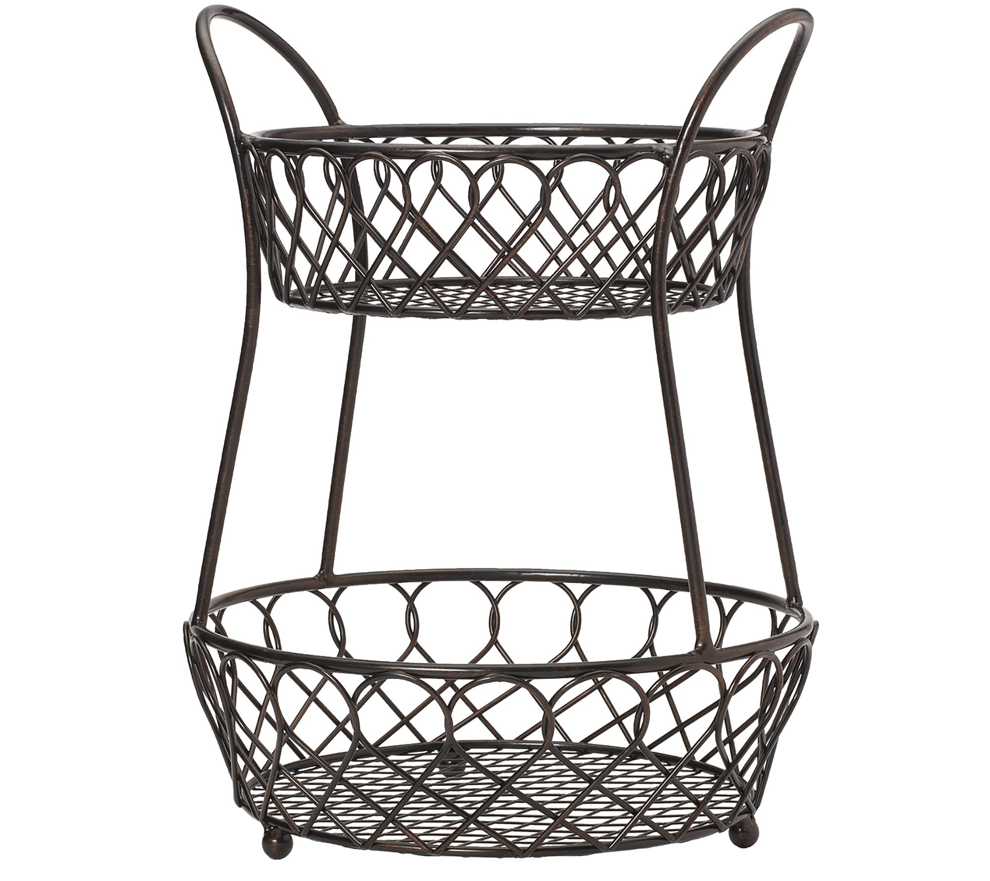 Gourmet Basics by Mikasa Loop & Lattice 2-TierBasket - Page 1 — QVC.com