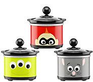 Disney Pixar Characters Mini Slow Cookers, 3-pack - K378266