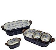 Temp-tations Floral Lace 6-Pc Squoval Back to Basics Bake Set - K380166