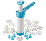Gourmac Easy Action 23-Piece Cookie Press Set - K306767