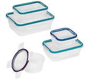 Snapware 5-Piece Plastic Food Storage w/ Latching Lids - K377767
