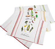 Rachael Ray Set of 3 Recipe Kitchen Towels - K46367