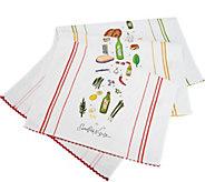 Rachael Ray Set of 3 Recipe Kitchen Towels - K46367