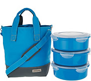 Lock & Lock Insulated Tote Bag with 3-Piece Storage Set - K47067