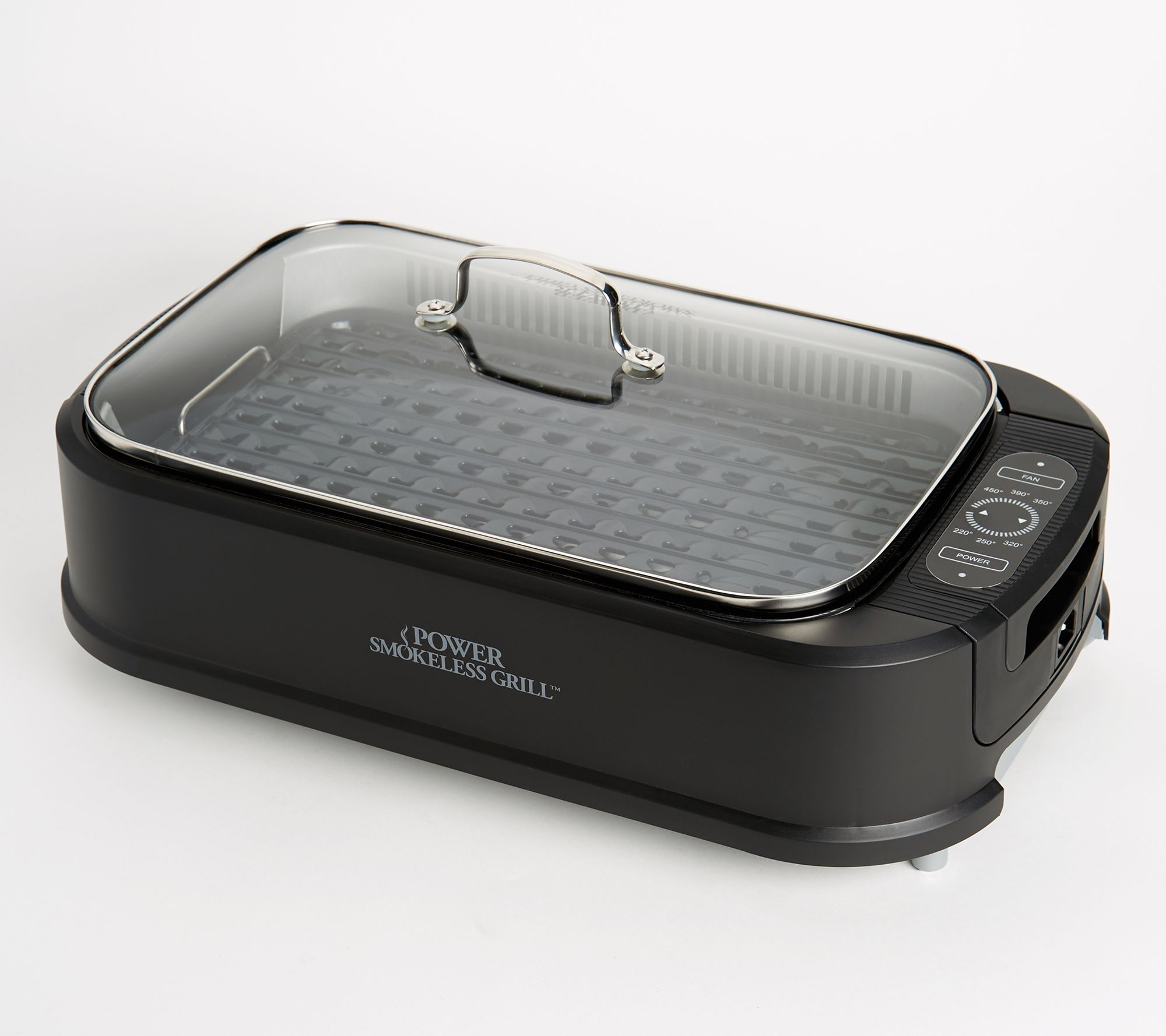 Power Smokeless Indoor Electric 1500W Grill w/ Griddle Plate — QVC com