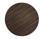 Charge It! by Jay Faux-Wood Finish Round Charger Plates - K297468
