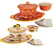 Temp-tations Old World or Floral Lace 6-pc Serving Platter Set - K44468