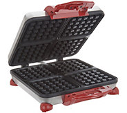 Cooks Essentials 4-Slice Belgian Waffle Maker w/ Audible Alert - K46868