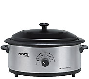 Nesco 6-qt Stainless Steel Roaster with Porcelain Cookwell - K303669
