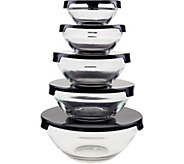 Chef Buddy 10-Piece Glass Bowl Set with SnapLids - K375569