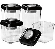 Cuisinart 8-pc Vacuum-Seal Food Storage Set - Black Lids - K302870