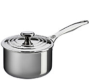 Le Creuset Stainless Steel 3-qt Saucepan with Lid - K303570