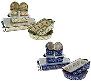 Temp-tations Old World or Floral Lace 9-piece Bake Set - K46970