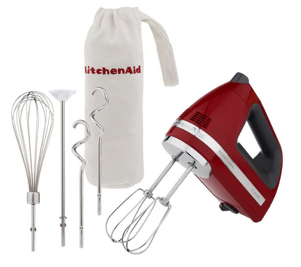 kitchenaid professional 9 speed digital hand mixer w bagattachments page 1 qvccom - Kitchen Aid Hand Mixer
