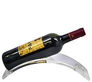 Sorbus Set of 5 Acrylic Single Wine Bottle Stands - K374771