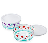 Pyrex Simply Store 2-Piece Lucky in Love Bowlswith Lids - K377771