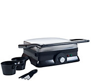 Chef Buddy Indoor Grill and Gourmet Sandwich Maker - K378171