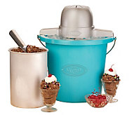 Nostalgia Electrics 4-Qt Blue Bucket Electric Ice Cream Maker - K299472