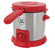 Yes Chef! 1 Liter Compact Snack Deep Fryer - K45573
