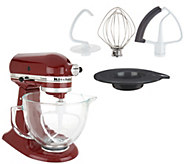 KitchenAid 5-qt 325W Tilt Head Stand Mixer w/ Glass Bowl & Flex Edge - K47174