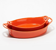 Rachael Ray 2-Piece Flared Oval Baker Set - K48874