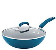 Rachael Ray Aluminum Nonstick 11 Stir Fry Pa nw/ Glass Lid - K305775