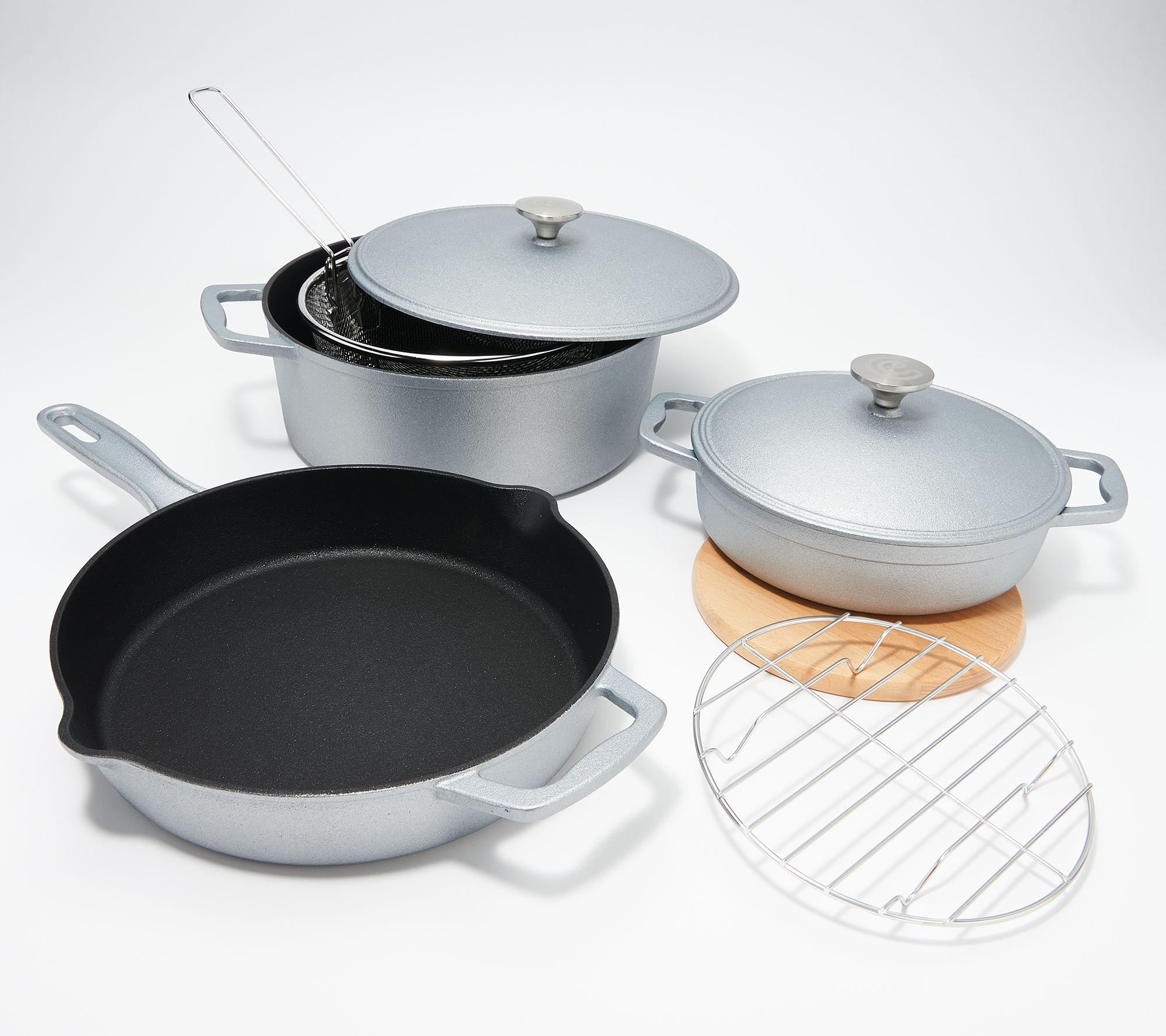 Cast Iron Elite 8 Pc Cookware Set