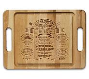 Solid Maple 3/4 x 15 x 21 Barbecue Board - K129976