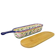 Temp-tations Old World Bread Server with Wood Cutting Board - K378476