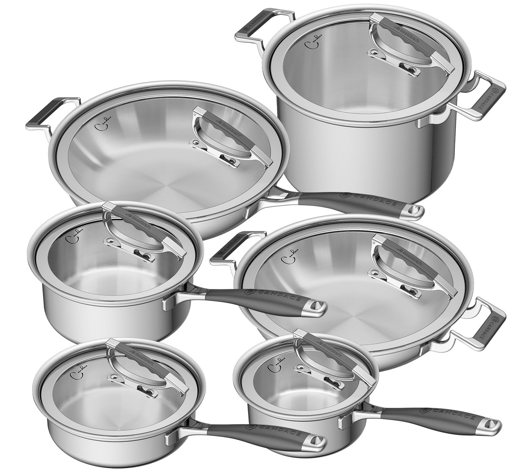 Cookcraft By Candace 12 Piece Cookware Set Qvc Com