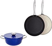 As Is Cooks Essentials 4 pc Light Weight Cast Iron Set - K307677