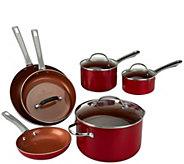 As Is Cooks Essentials 10-piece Ceramic Cookware Set - K307877