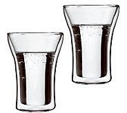 Bodum Assam Set of 2 Double Wall Highball Glasses - K297678