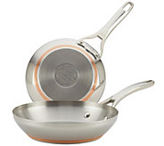 Anolon Nouvelle Copper Stainless Steel Twin-Pack Skillets - K305978