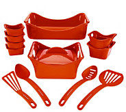 As Is Rachael Ray Bubble & Brown 13-pc Square Bakeware Set - K307778