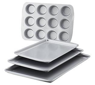 Farberware Nonstick 4-Piece Bakeware Set - Gray