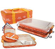 Temp-tations Floral Lace 13 x 9 Baker with Lid-its & Tote - K46079