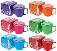 Sistema Set of 6 Jumbo 30-oz Microwave Mug Set - K48079
