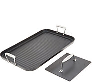 All-Clad Hard Anodized 13x 20 Grande Grill with Bonus Press - K47280