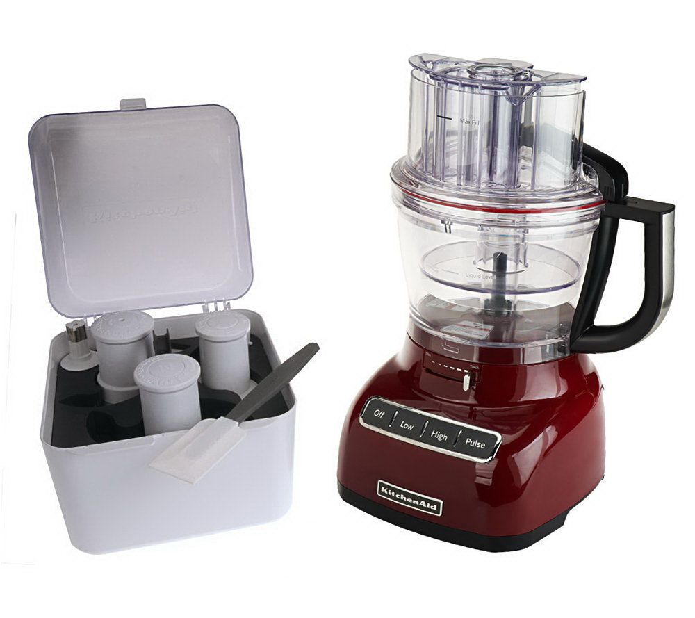 kitchenaid 13 cup 3 in 1 wide mouth food processor w accessories