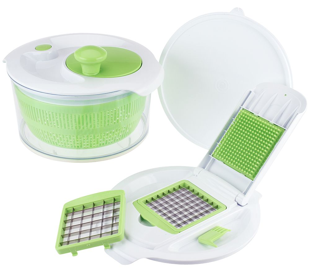 Prepology Combination Dicer And Salad Spinner Page 1 Qvccom