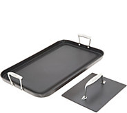 All-Clad Hard Anodized 13x 20 Grande Griddle with Bonus Press - K47282