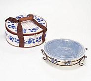 Temp-tations Floral Lace Basketweave Pie Plate - K48382