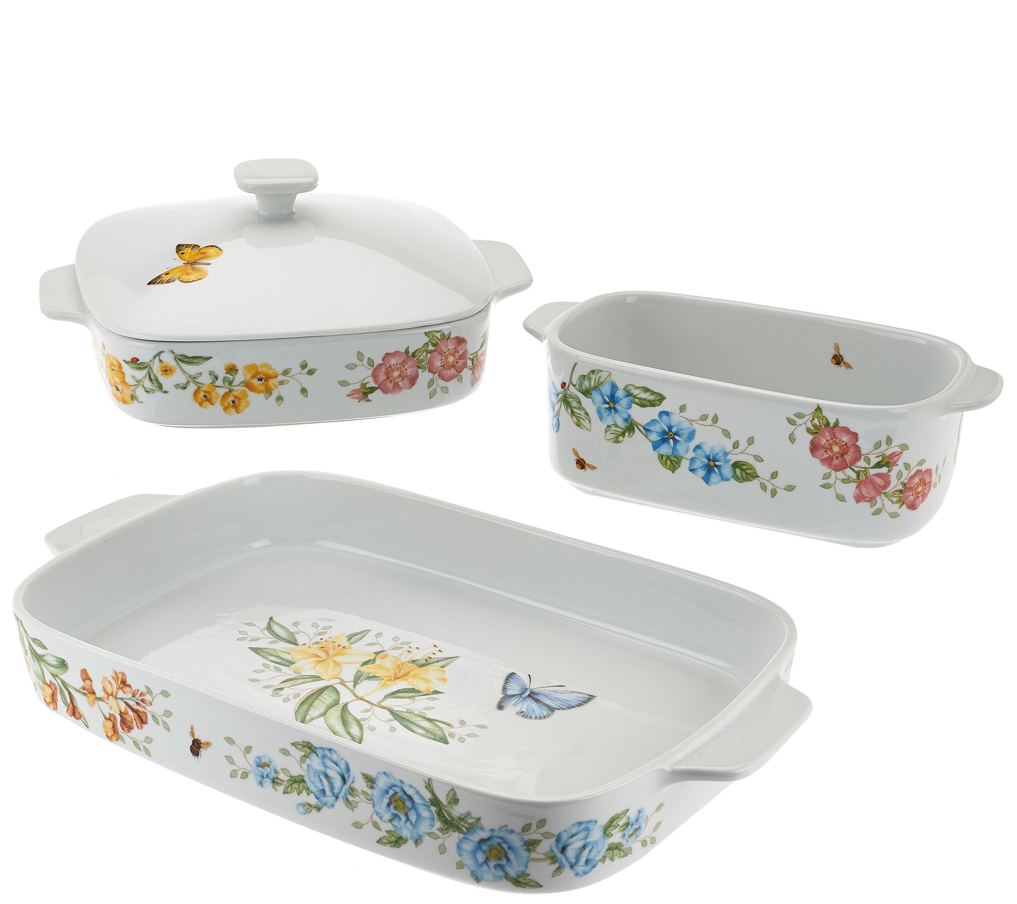 Lenox 4pc Butterfly Meadow Oven To Table Bakeware Set Qvc Com