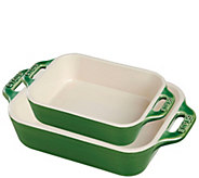 Staub Ceramics 2-Piece Rectangular Baking DishSet - K378284