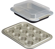 Anolon Nonstick 3-Piece Bakeware Set with Shared Lid - K375185