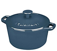 Cuisinart Chefs Cast-Iron 3-qt Round Covered Casserole - K378085