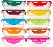 Lock & Lock Set of 10 Multi-Color Mini Rectangle Storage Set - K46785