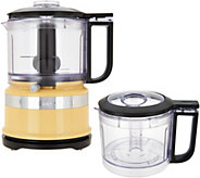 KitchenAid 3.5-Cup One-Touch 2-Speed Chopper with Extra Bowl - K45786
